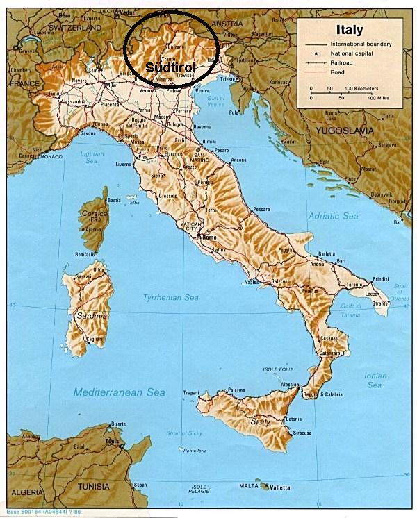 Sudtirol Karte Osterreich Italien.Sudtirol Karte Italien Kleve Landkarte