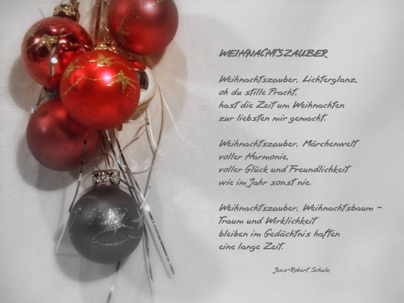 Weihnachtszauber - ein Gedicht zum wichtigsten Fest der Deutschen